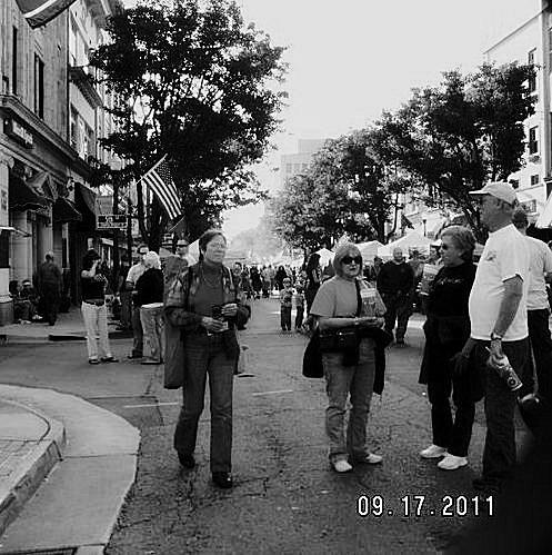 Some of the crowd on State Street during Rhythm and Roots
