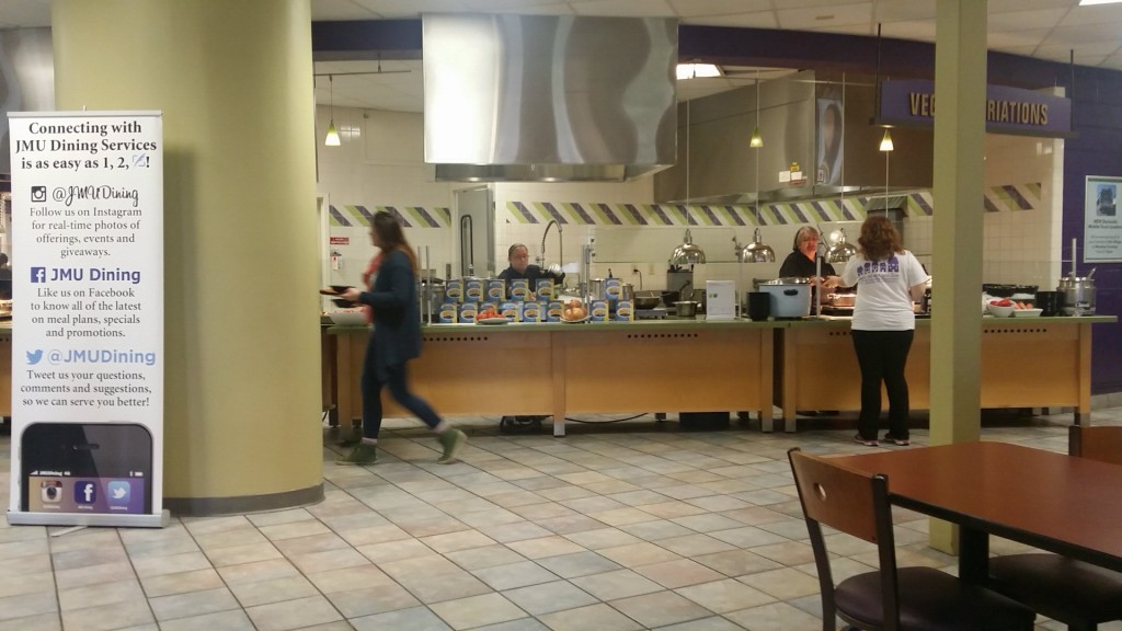 Sue and the worry-free/vegetarian line at D-Hall