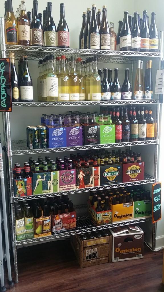 The gluten-free beer and cider shelf at Midtowne Bottle Shop