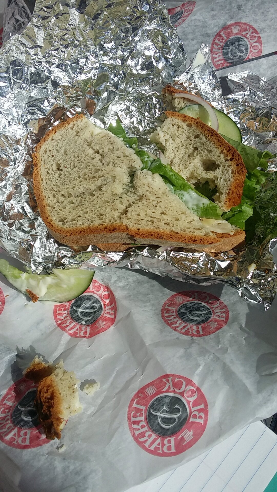 Gluten-free sandwich from Montague's Deli in Market One