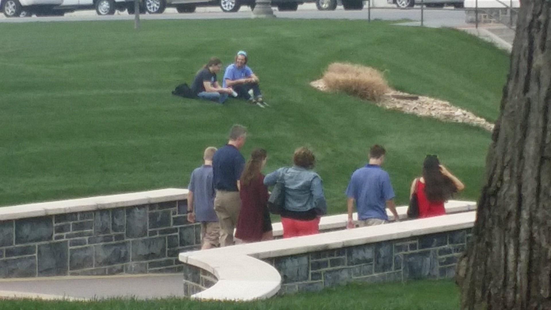 Random family found perusing the quad