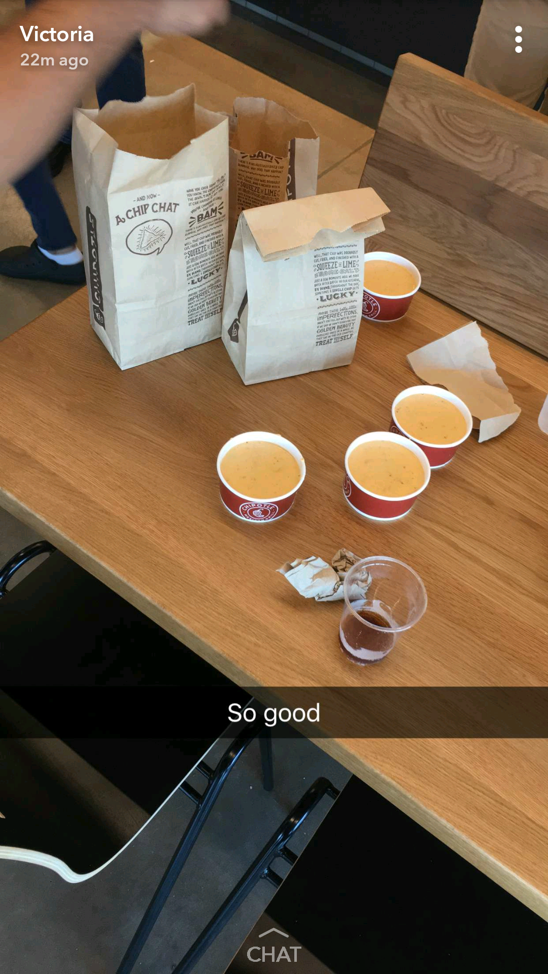 A snapchat from my GM on the day queso arrived.