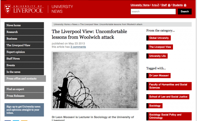 The article on the University website