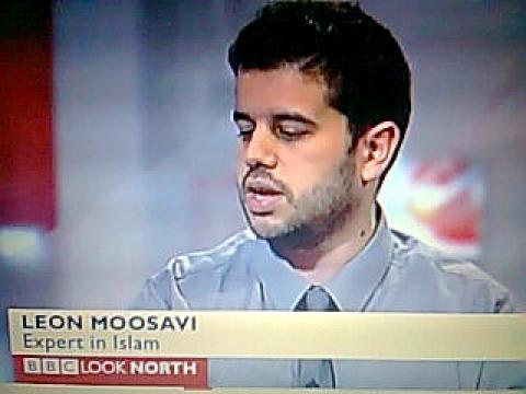 Dr Moosavi making a media appearance