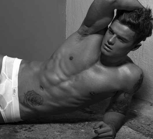 While Christian's not bagging A-listers, he models for 'rah' fashion outlet Abercrombie & Fitch.