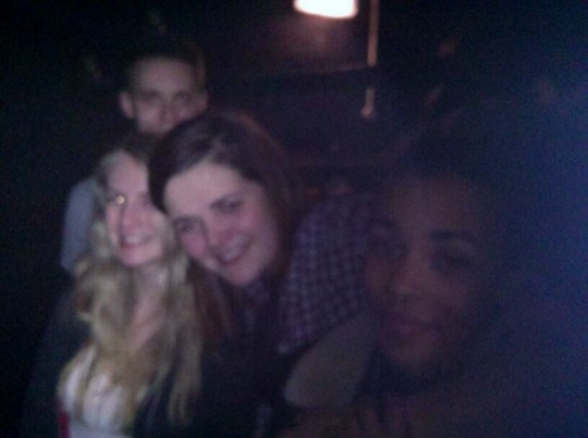 Drunken photos are always blurry enough to hide any make-up