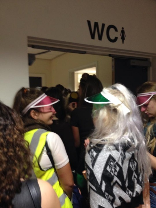 The queue for the girls' loos was as big as ever as the ladies enjoyed a natter