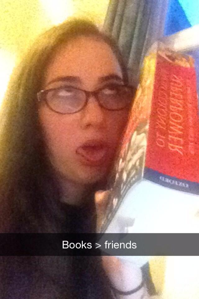 Books are her friends now