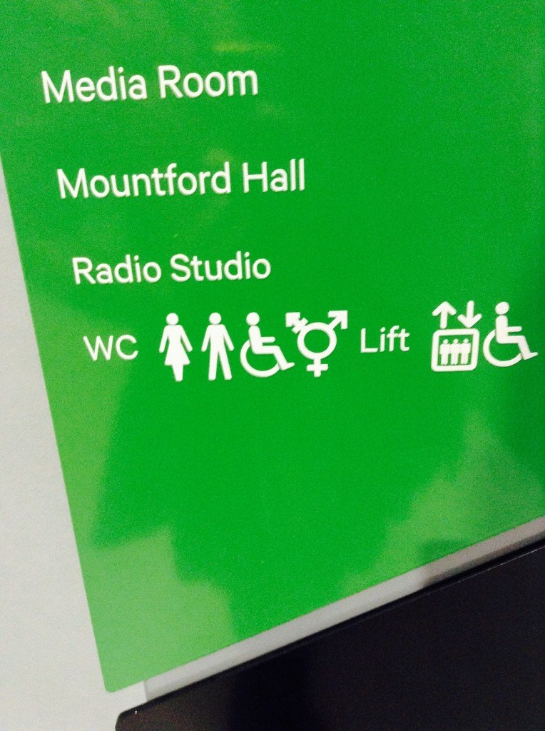 They are signposted in bright green and white