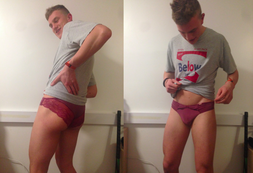 Milf Catches Son Panties