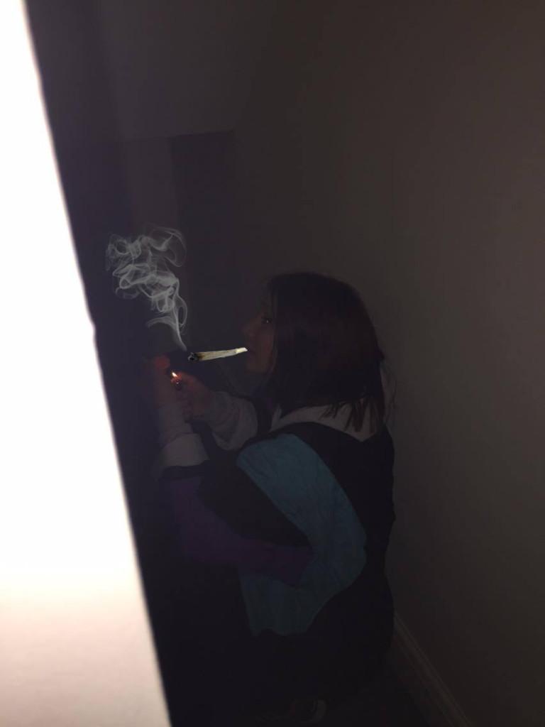weed smoke hide 420 stairs