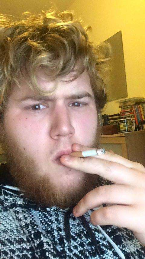Primitive man discovers tobacco (10,00 BC, colourized)