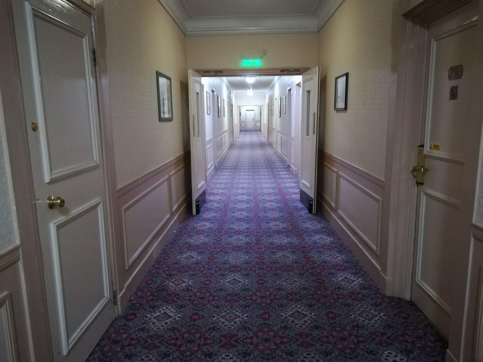 Image may contain: Flooring, Corridor