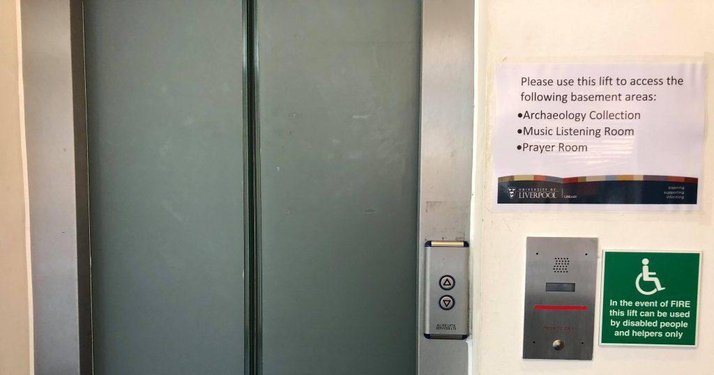 Image may contain: Elevator, Door