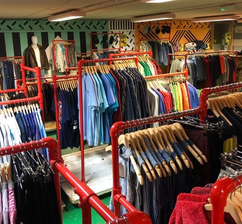 Image may contain: Bazaar, Market, Boutique, Shop, Clothing, Apparel