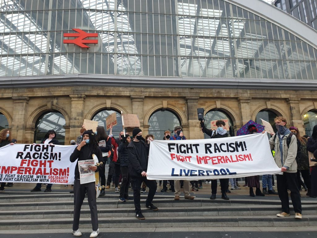 Protesters take to streets of Manchester in anger over new crime and policing bill