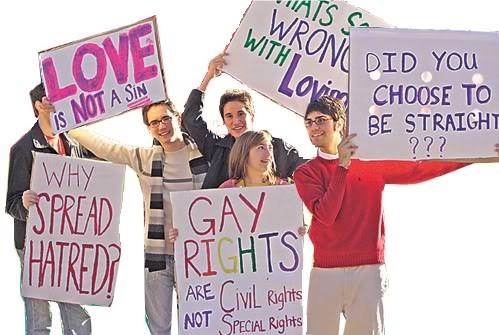 gay rights vand