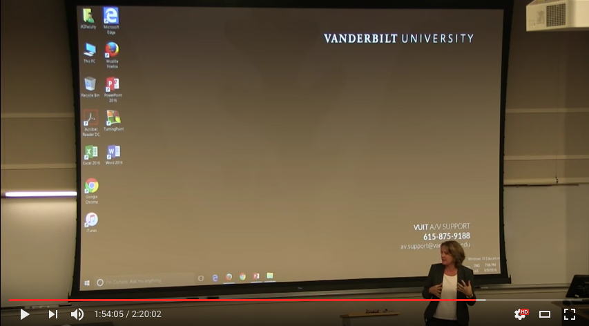 The event was livestreamed through the Live at Vanderbilt Youtube Channel