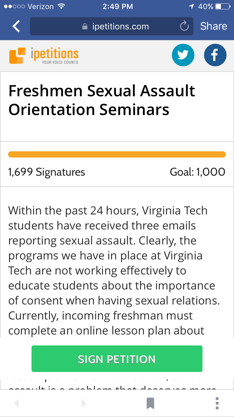 The Petition Has Been Circulating On Multiple Social Media Platforms,  Including Facebook, And It Reached Its Goal Of 1,000 Signatures In One Day.