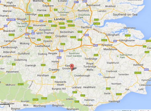 9:30 Teams have been dropped off near Forest Row in Sussex: