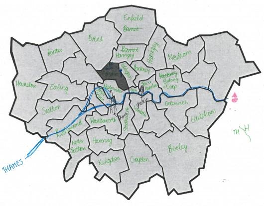 """Welcome to the London Borough of ̶B̶r̶e̶n̶t̶ . Please drive carefully."""