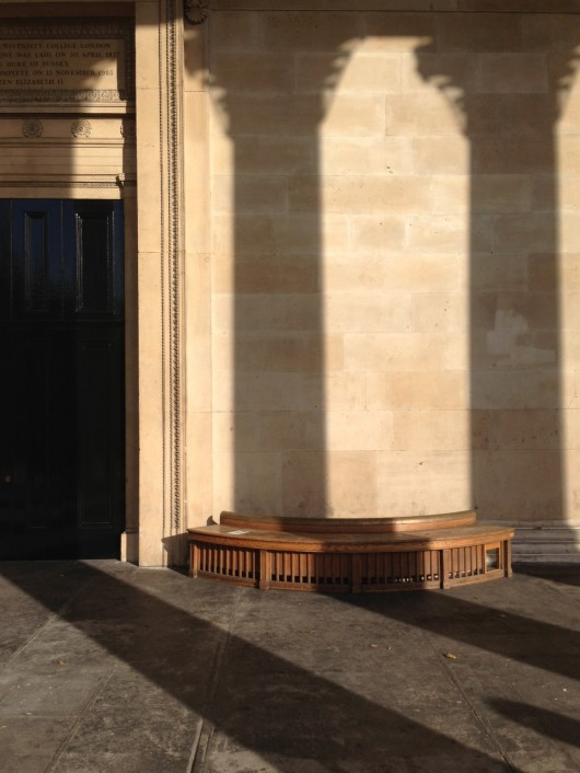 Pillars of Love: The benches under the portico