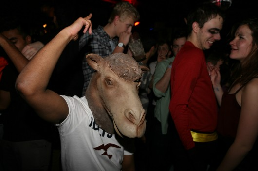 ...when you were freaking everyone out with that creepy sheep mask. Or camel. Or llama.