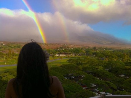 Something lame about storms and rainbows (Twitter)