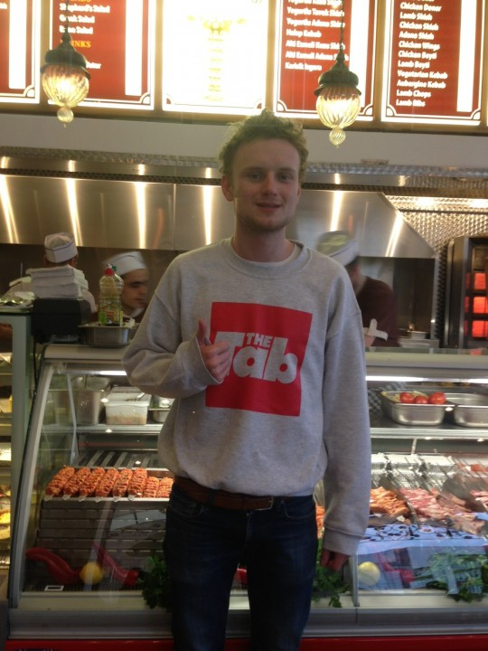 Nothing like asking someone to take a photo of you in a kebab shop by your self