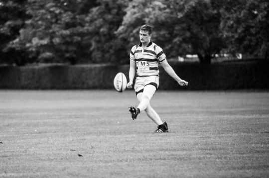 Captain Knox converting a try