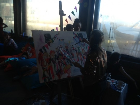 What's artier than a breakfast rave? Painting a breakfast rave!