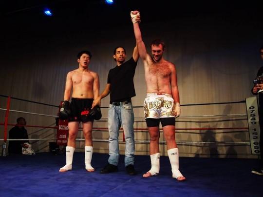 Freddie (right) winning