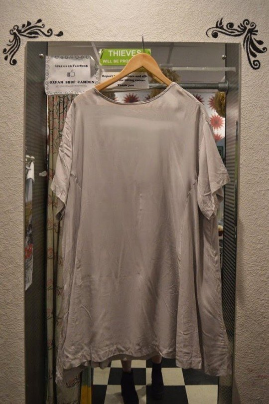 White Silk Dress - £10.99