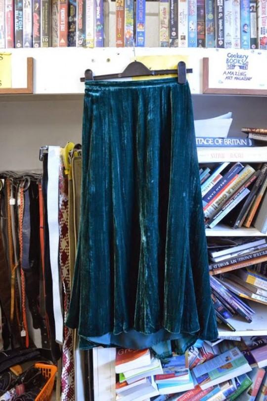 Velvet Midi Skirt - £6.00, Mind in Camden