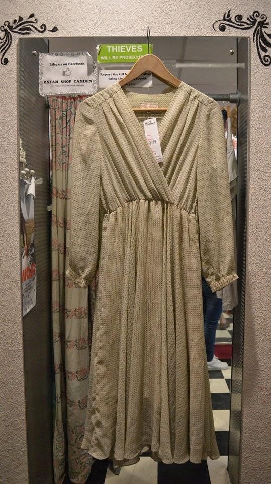 Polka-Dot Chiffon Dress - £9.99