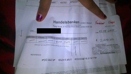 The fraudulent cheque