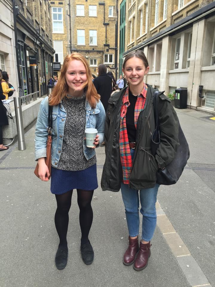 Catherine, Anthropology and Nicole, English