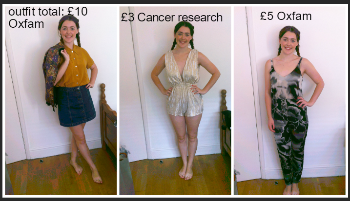 Glamour on a budget- A few of the pieces found when exploring London's charity shops