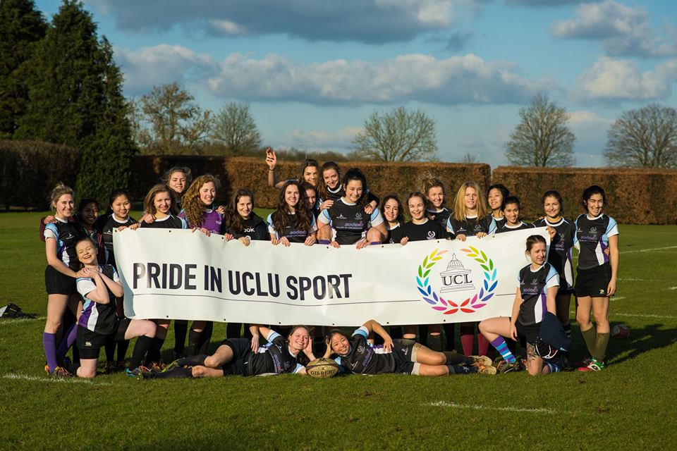 Women's Rugby supporting Pride in Sport