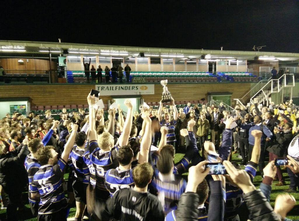 RUMS 1st XV after their UH Cup win in 2015