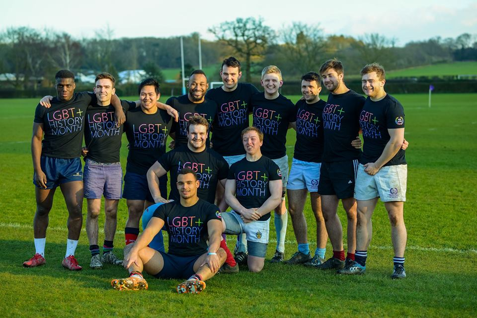 Some of the 1st XV at Pride in Sport