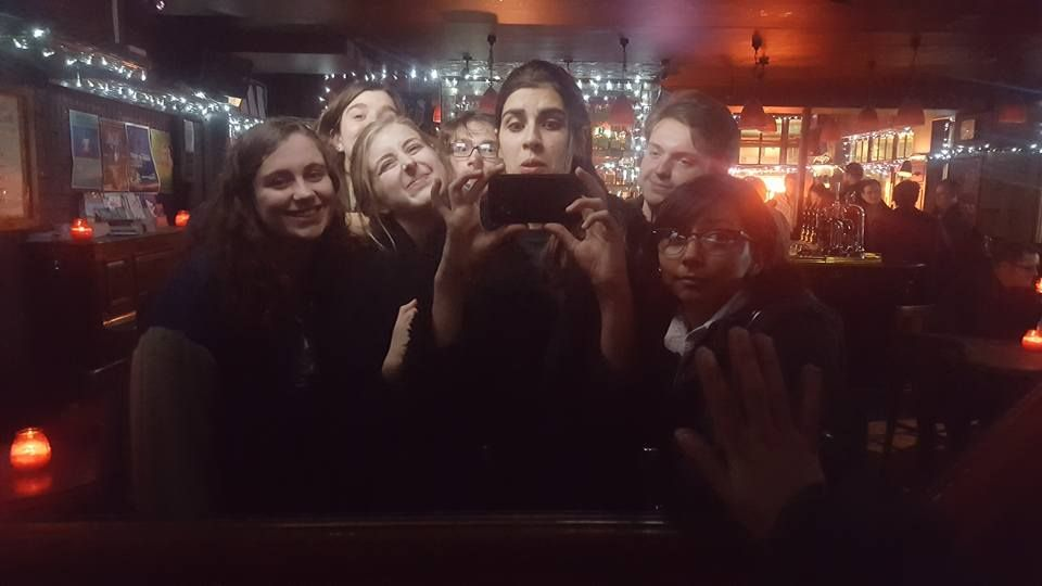 Image may contain: Person, People, Human, Pub, Bar Counter