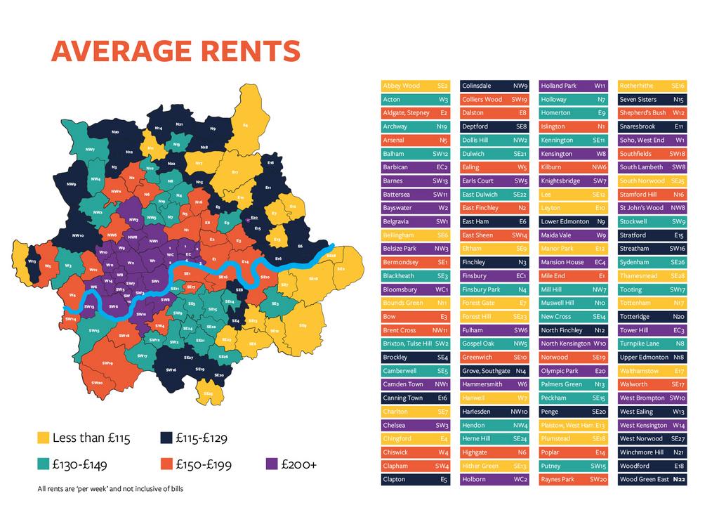Student Union rent map