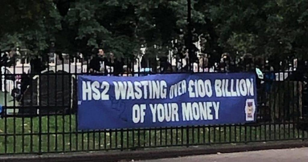 HS2 protests Euston Square Gardess