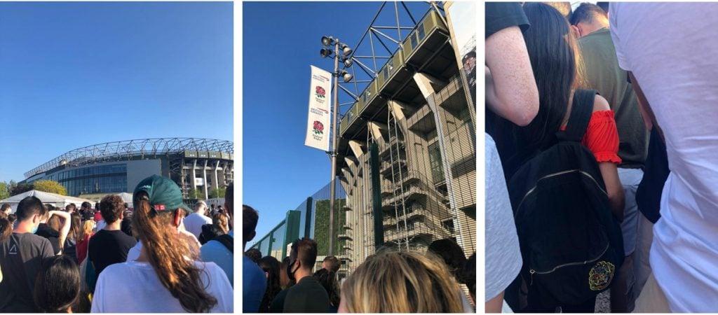 People at Twickenham Stadium