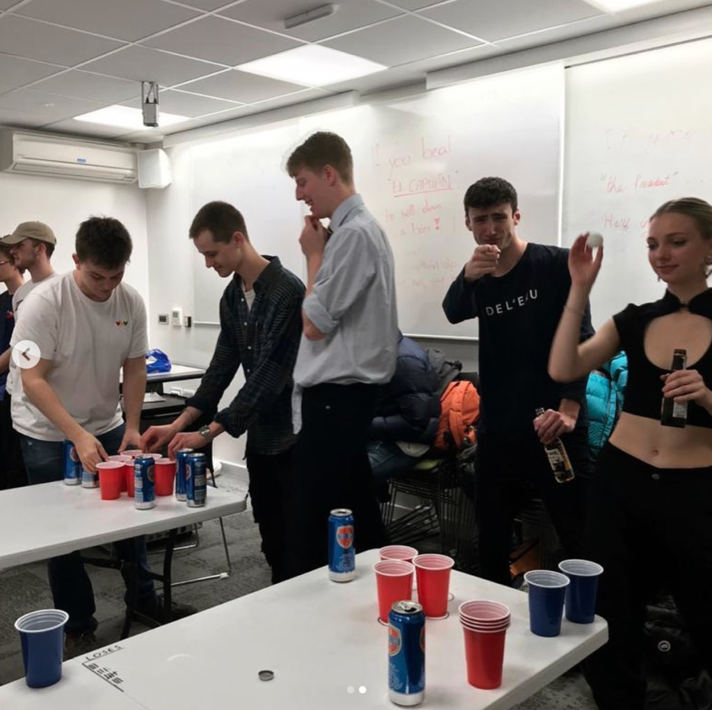 beer pong, freshers', society