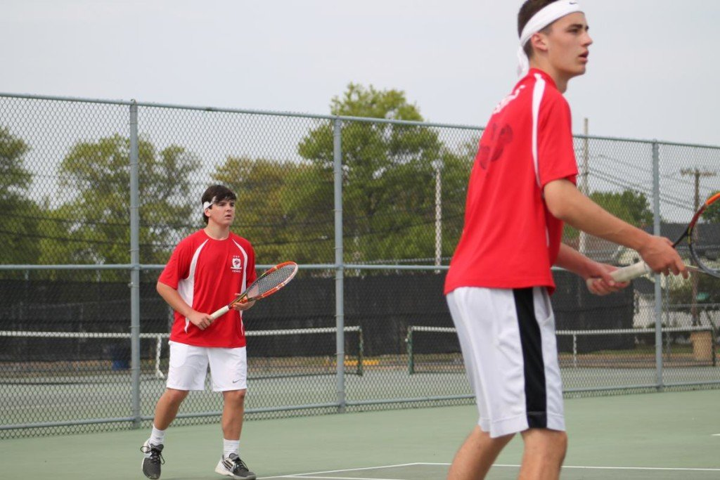 Patrick Hannity (left) in a tennis tournament in Long Island