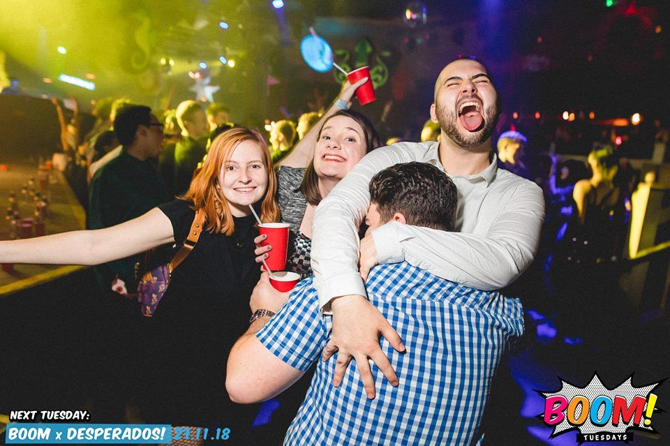 Image may contain: Night Life, Night Club, Club, Human, Person, Party