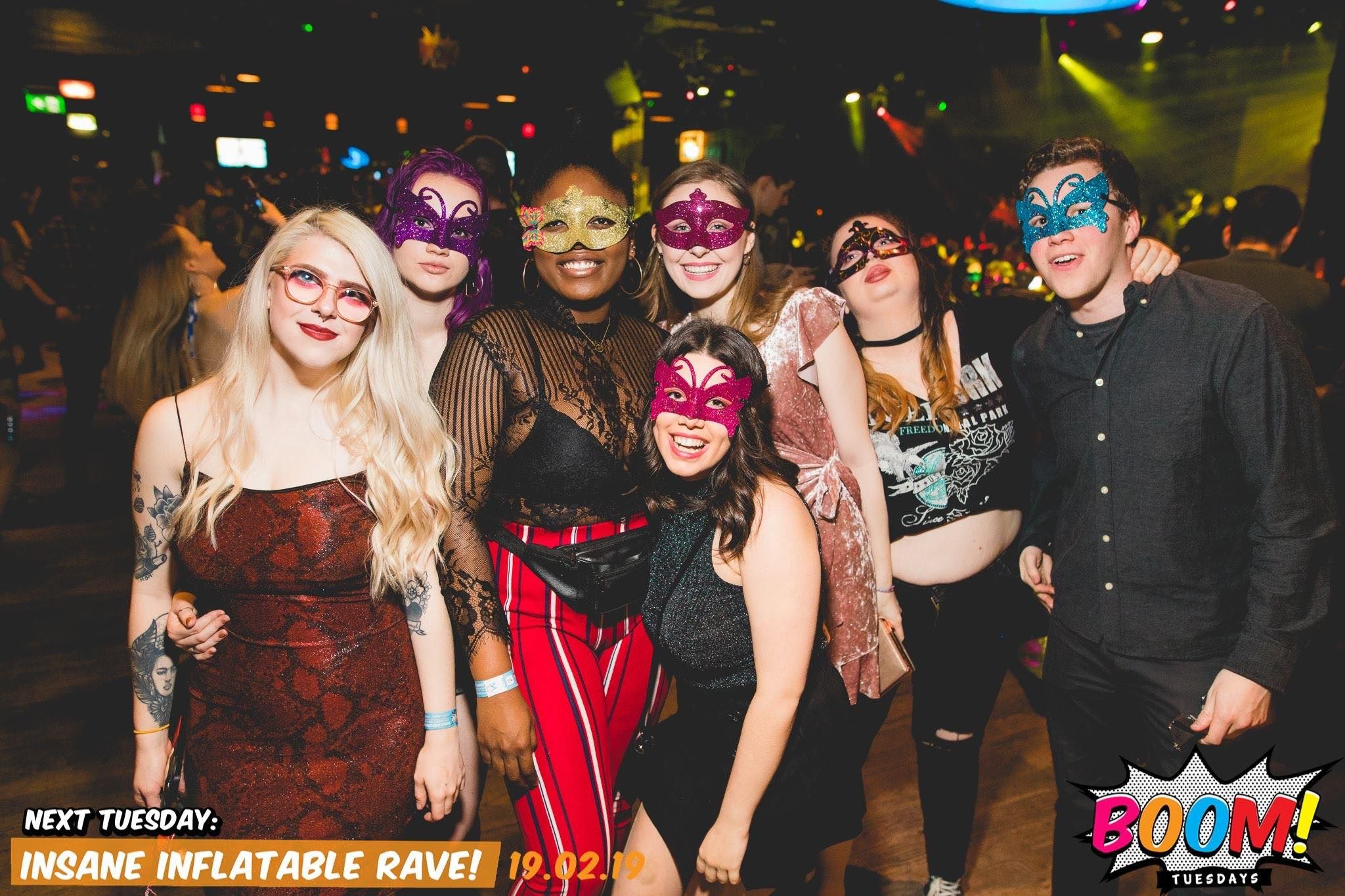 Image may contain: Disco, Accessory, Sunglasses, Accessories, Apparel, Clothing, Shoe, Footwear, Night Club, Club, Party, Person, Human
