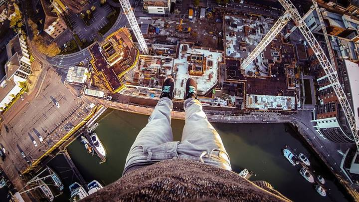 This is James' favourite picture from his crane climb in June. We can see why!